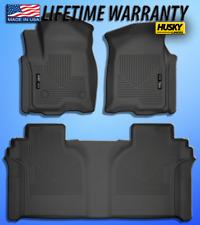 Black Floor Mats Husky Liners 2019 Silverado/Sierra 1500 Crew Cab front/rear set