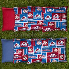 Cornhole Bean Bags Set of 8 ACA Regulation Bags Colorado Avalanche Free Ship!!