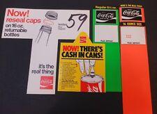 4 Vintage Coca Cola Carton Stuffers #11
