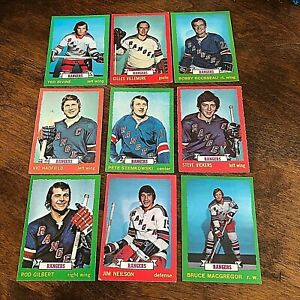1973-74 O-PEE-CHEE  NEW YORK RANGERS 17 card TEAM SET
