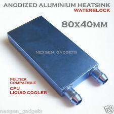 Waterblock 80 x 40 mm Cooler Aluminium Water Cooling Heatsink Liquid CPU GPU SR