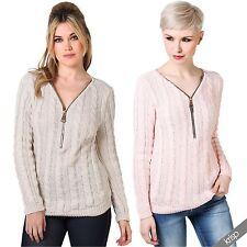Hüftlange Damen-Pullover aus Acryl