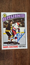 1976-77 TOPPS SIGNED AUTO CARD DARRYL EDESTRAND BRUINS PENGUINS BLUES KINGS 179