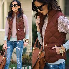 Womens Slim Down Cotton Sleeveless Vest Waistcoat Winter Warm Jacket Coat Jacke