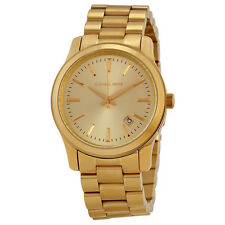NEW MICHAEL KORS RUNWAY GOLD TONE STAINLESS STEEL ,CLASSIC BRACELET WATCH MK5160
