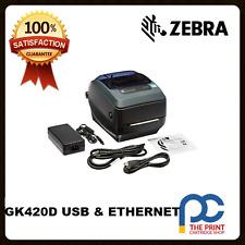 Zebra GK420D 203DPI Thermal Docket  Printer USB & Ethernet Interface