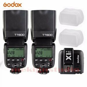 Godox TT600 2.4G Wireless Speedlite Flash For Canon /  X1T-C Transmitter Kit New