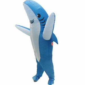 Adults Shark Inflatable Halloween Birthday Party Funny Blow up Cosplay Costume