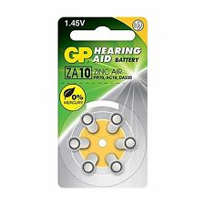 GP Batteries PR70 ZA10 AC10 DA230 Battery for Hearing Aid Yellow Pack of 6 C07