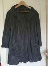 Miss Selfridge Black Shiny Rain Coat Mac Jacket Size 12 Lightweight Spring