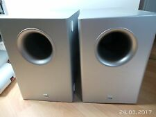 2x Canton AS10 Subwoofer Aktiv Silber