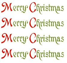 Merry Christmas Red Green Select-A-Size Waterslide Ceramic Decals Ox