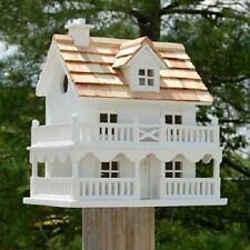 Novelty Cottage White Bird House by Home Bazaar