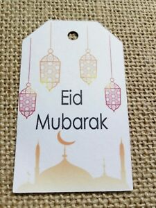 15x Ramadan Mubarak Tags Lantern Eid Mubarak Tags