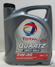 (5,54€/Liter) 5W30 5 Liter Total Motoröl Quartz Ineo MC3 ACEA C3 API SN/CF Opel