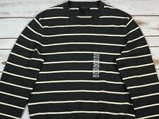 Bloomingdales Gray Crew Neck Sweater Striped Size L Men's NWT