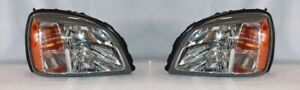 Right and Left Side Replacement Headlight PAIR For 2000-2003 Cadillac DeVille