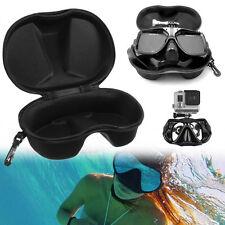 Schwarz Schnorchelmaske Tauchmaske Taucherbrille Container Box für GoPro 3+4 Neu