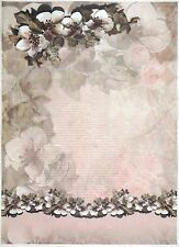 Rice paper -A/3 Magnolia Decor- for Decoupage Decopatch Scrapbook Craft Sheet