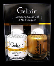 Gelixir Soak Off Gel Polish Gold Love 092 LED/UV .5oz Matching Gel Duo
