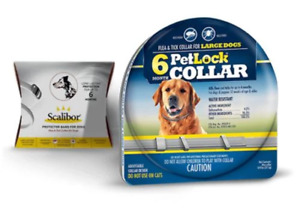 PetLock Flea & Tick collar Large Dogs 6 Months Protection Compares to Scalibor