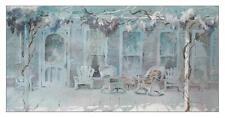 Jane Burnham -LARGE California Watercolor -Old Porch w/ Wisteria -LISTED ARTIST