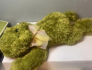 "Dan Dee Floppy Frog Stuffed Plush Animal Amphibian Green Soft 14"" Toy"