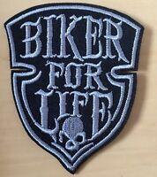 Biker for life Aufnäher / Aufbügler Biker patch Motorrad Bier Chopper HC MC 666