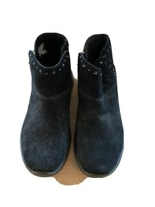 Skechers Black Suede Ankle Boots