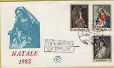 143549 busta fdc primo giorno first day san marino natale 1982