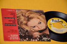 """BRIGITTE BARDOT 7"""" 45 IL  RIPOSO DEL GUERRIERO 1°ST ORIG ITALY 1962 EX TOP COLLE"""