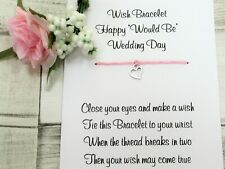 Would Be Wedding Day Wish Bracelet Cancelled Wedding Gift Card Postponed Wedding