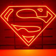 "12""X9"" Red Superman Neon Sign Board Cute Luminous Neon Glow Sculpture Decor Sign"