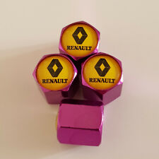 RENAULT Yellow top PURPLE Wheel Valve Dust Caps EXCLUSIVE TO US ALL MODELS