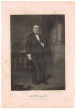 Stephen A Douglas 1862 Steel Engraving Print Senator Lincoln Debates Slavery