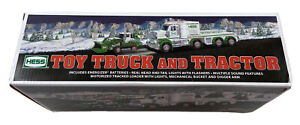HESS TOY TRUCK and TRACTOR Sound Features Real Flashing Lights NEW Sealed