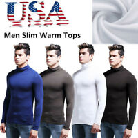 Winter Men Warm Turtleneck Shirts Long Sleeves Underwear Tailored Slim Fit Tops