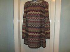 Size 18 Khaki/Red multi print dress/Tunic by ATMOSPHERE