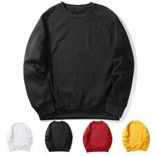 Sudadera para Hombre Cuello Redondo Cálido de Invierno Jersey Liso Color Camisa