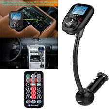 Bluetooth FM Transmitter USB Handsfree Adapter MP3 Player Wireless LCD Aux Car