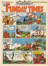 FUNDAY TIMES NUMERO 1 (1989) RARE PERIODIQUE ANGLAIS AVEC ASTERIX A LA UNE