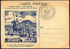 cpa. Vézelay . 8 é Centenaire . 2é Croisade . religion . Jérusalem. 1946