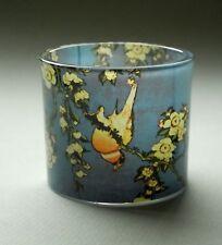 """Musée verre pour chauffe-plats - """" HOKUSAI - BOUVREUIL avec fleurs """" -"""