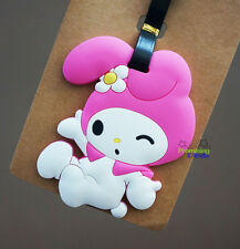 Cute My Melody Silicone Luggage Tags Id Card Holder Travel Suitcase Baggage Tags