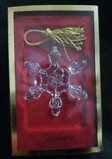 Gorham Crystal Snowflake Christmas Ornament