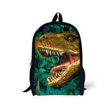 17 inch Dinosaur Backpack Boy's School Fashion Shoulder Bag Rucksack Satchel