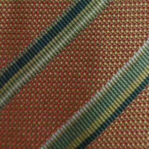 Brown Green Striped CERRUTI Silk Tie