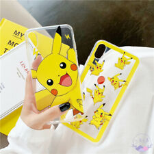 For iPhone 12 Pro Max 11 XS XR 6S 7 8 Plus Anime Pokemon Pikachu Soft Phone Case