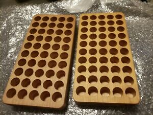Huntingtons LARGE CALIBER RELOADING Wood TRAY   #8  TWO TRAYS