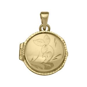 10k 14k 18k Yellow Gold Circular Flower Locket NEW 4.3 - 5.1 g N6809